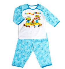 PORORO & CRONG SHORT SLEEVE SET- PLAYING BLOCKS BLUE
