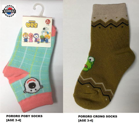 PORORO SOCKS - POBY AND CRONG SOCKS [MADE IN KOREA]