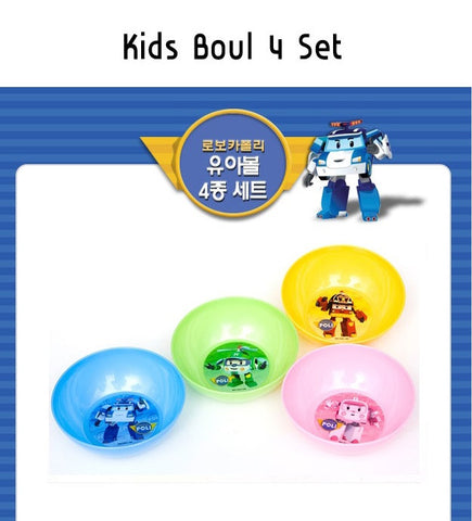 ROBOCAR POLI KIDS 4PC BOWL