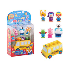 PORORO BUS WITH SOUND & LIGHT [WITH 6 CHARACTERS FIGURINE TOYS]