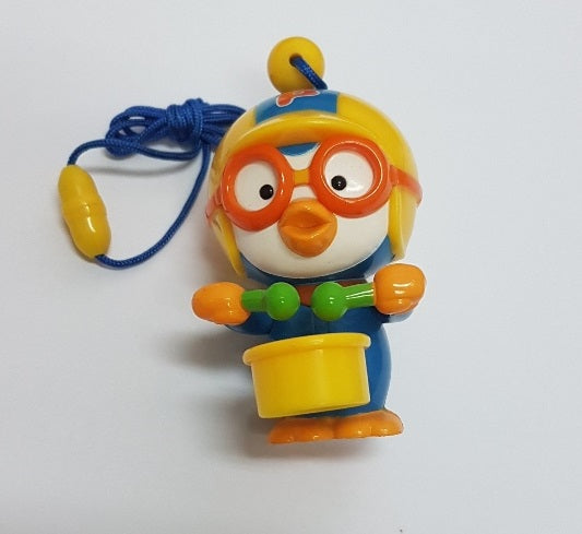 PORORO FIGURINE TOY WITH DRUM [ORIGINAL FROM KOREA]
