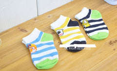 PORORO KIDS SOCKS - 3 PCS SET - BLUE [MADE IN KOREA]