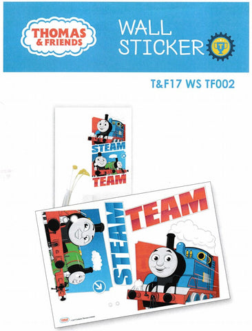 THOMAS U0026 FRIENDS STEAM TEAM WALL STICKER   Tu0026F17 ...