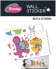BARNEY DRUMS WALL STICKER - B&F16-ST BF002