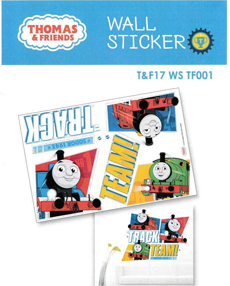 THOMAS & FRIENDS TEAM! TRACK WALL STICKER - TF17WS T001