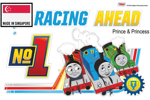 THOMAS & FRIENDS NO.1 RACING AHEAD WALL STICKER - TF16ST T002
