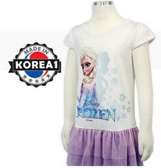 [MADE IN KOREA] FROZEN ELSA SHORT SLEEVE DRESS -WHITE / PURPLE