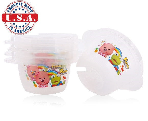 PORORO MINI CONTAINERS FOOD CASE FOR BABIES (5 PCS) [MADE IN USA]
