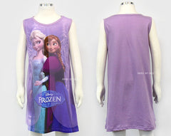 [MADE IN KOREA] FROZEN ELSA & ANNA DRESS WITH LACE- PURPLE
