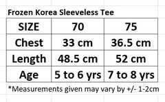 [MADE IN KOREA] FROZEN ELSA COTTON SLEEVLESS TEE / TOP- BLUE / WHITE
