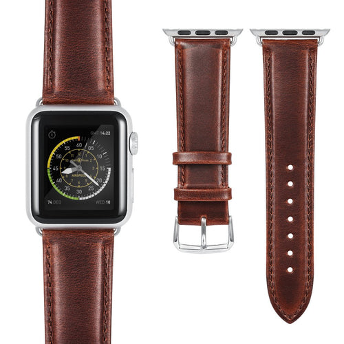 CLASSIC LEATHER APPLE WATCH STRAP 42MM