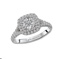 Load image into Gallery viewer, Romance Round Diamond Halo Ring