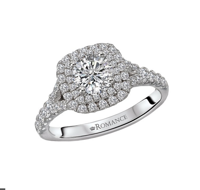 Romance Round Diamond Halo Ring