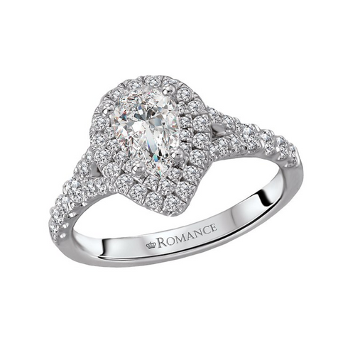 Romance Pear Diamond Ring