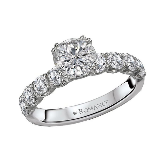 Romance Round Diamond Semi-Mount Ring