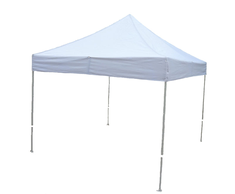 10x10 EZ Up Gazebo Tent Canopy Replacement Canopy Top with Detachable Sign Display White - Formosa Covers