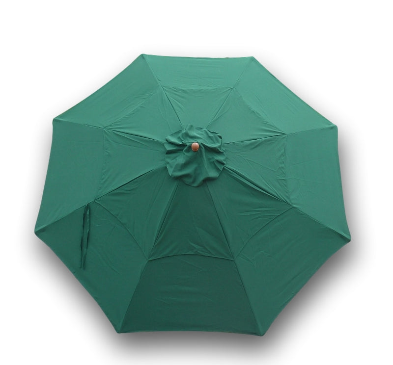 11ft Market Patio Umbrella Double-Vented 8 Rib Replacement Canopy Hunter Green