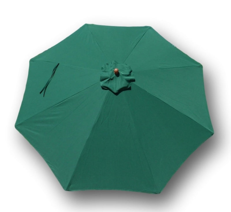 11ft Market Patio Umbrella 8 Rib Replacement Canopy Hunter Green - Formosa Covers