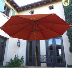 11ft Market Patio Umbrella Double-Vented 8 Rib Replacement Canopy Terracotta - Formosa Covers