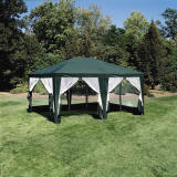 12ft x 15ft Screen House Gazebo Canopy Tent Hunter Green - Formosa Covers