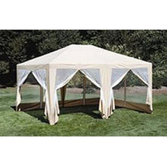 12ft x 15ft Screen House Gazebo Canopy Tent Beige - Formosa Covers