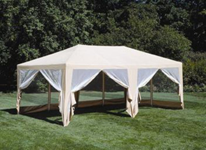 12ft x 20ft Screen House Gazebo Canopy Tent Beige - Formosa Covers