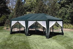 12ft x 20ft Screen House Gazebo Canopy Tent Hunter Green - Formosa Covers