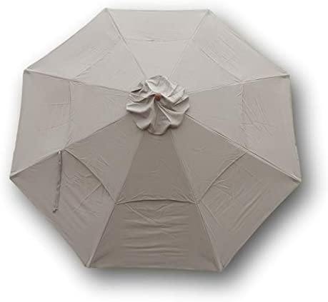 11ft Market Patio Umbrella Double-Vented 8 Rib Replacement Canopy Taupe