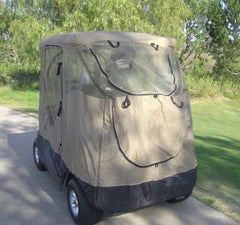 2 Passenger Golf Cart Mesh Driving Enclosure Cover with Mosquito Netting - Formosa Covers