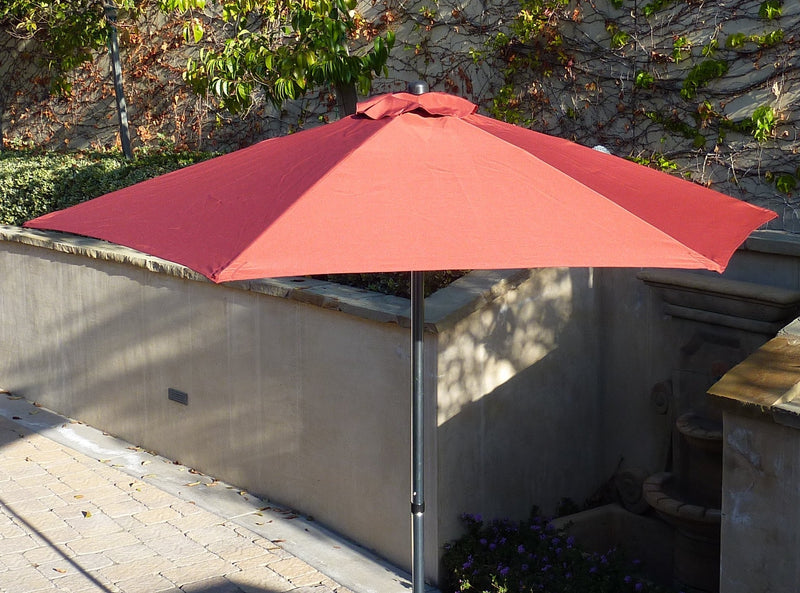7.5ft Fiber Glass Patio Garden Market Umbrella Brick Red