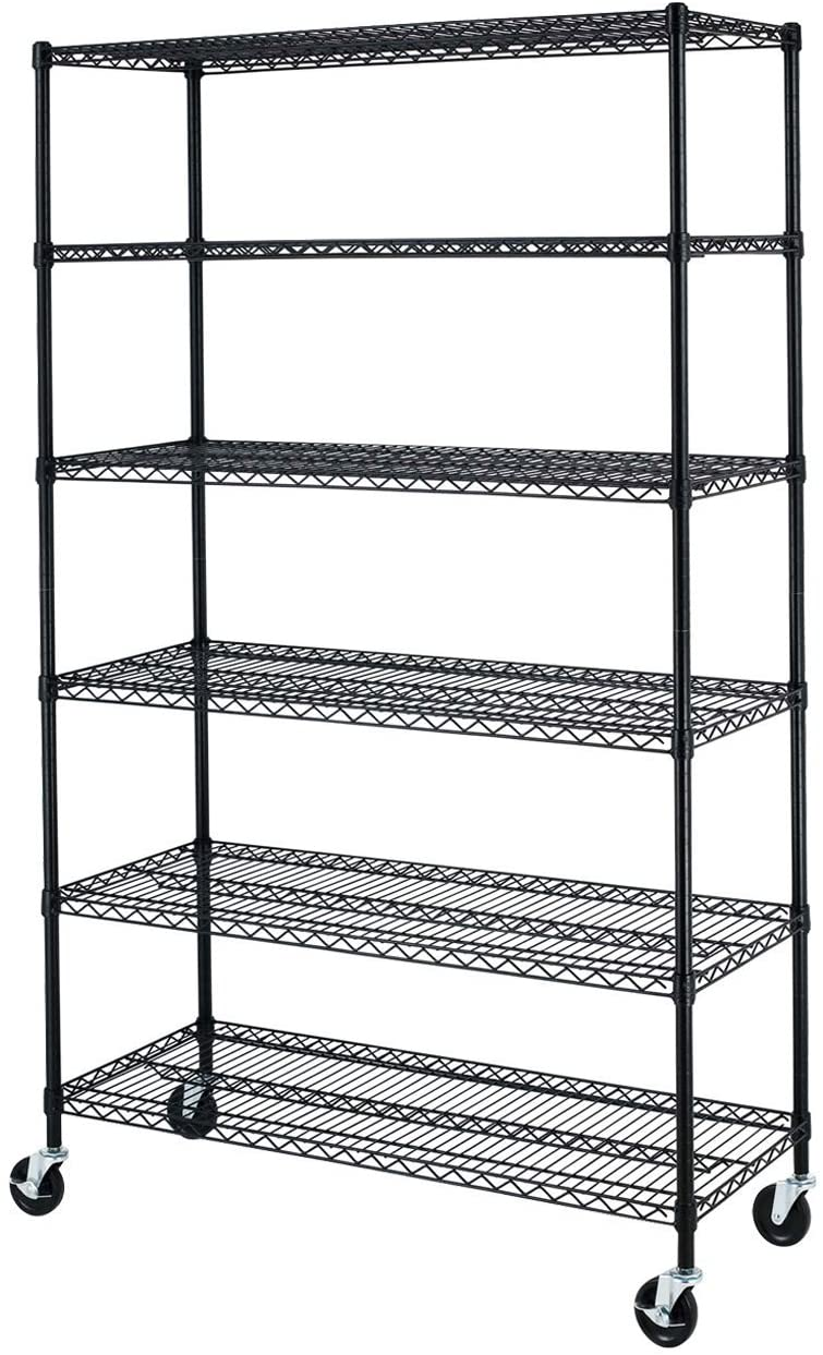 "Storage Shelving Unit Cover, fits racks 48""W x 18""D x 72""H all see through mesh PVC - Formosa Covers"