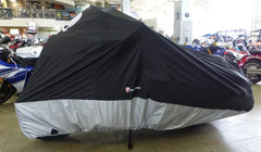 Deluxe Light Weight Motorcycle Cover with Skull Logo - Fits up to 108