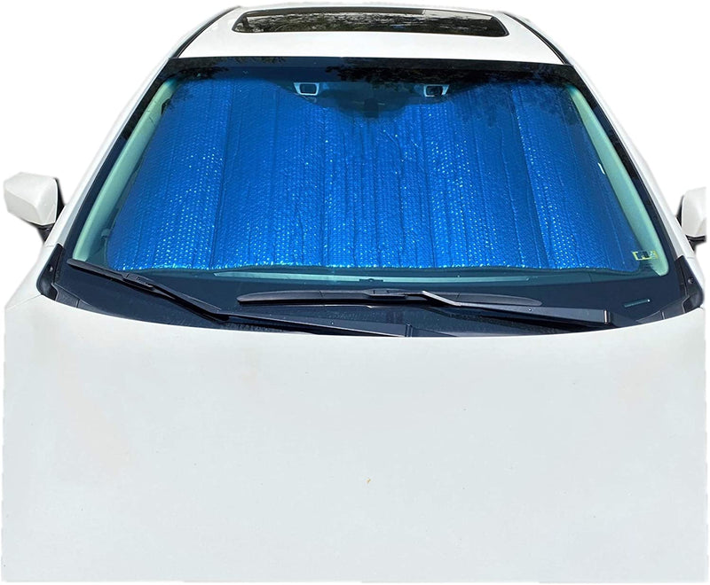 Plasma Coated Car Windshield Sun Shade fits Small to Mid Size Car