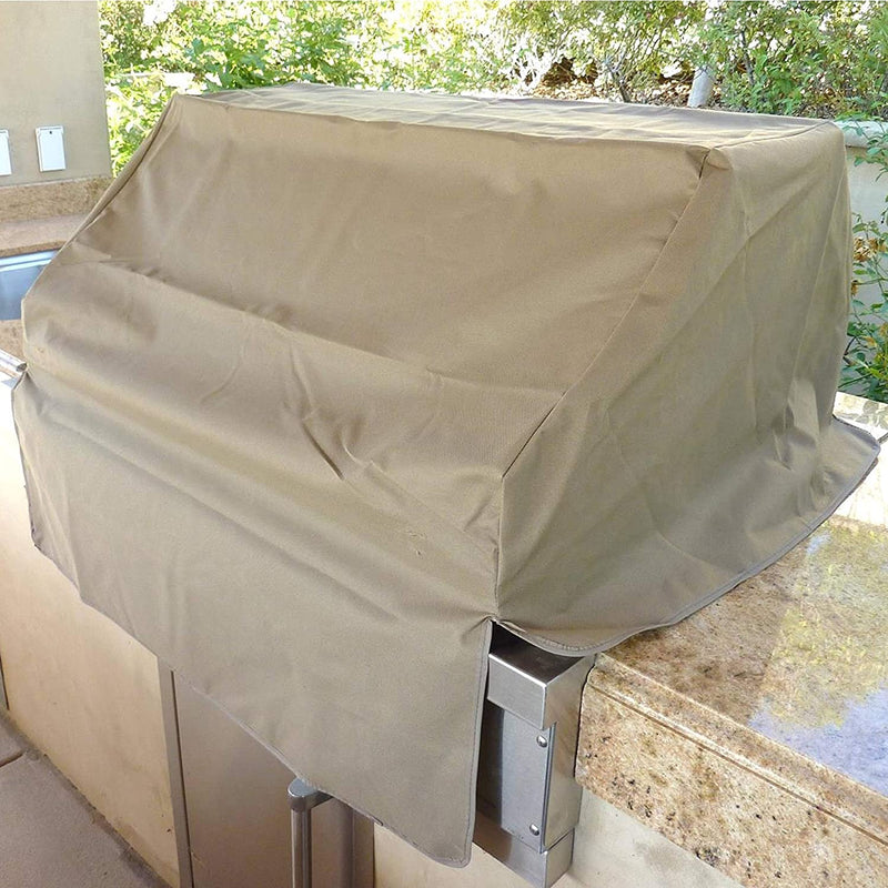 "Built-In BBQ Outdoor Gas Grill Cover 45""L x 30""D x 16""H Taupe - Formosa Covers"