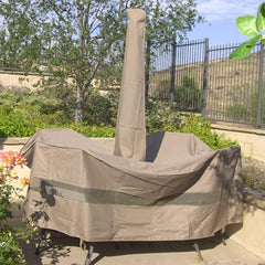 Patio Umbrella Cover Fits 7FT to 11FT Umbrellas Classic Taupe - Pack of 2