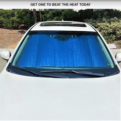 Plasma Coated Car Windshield Sun Shade fits Large Van, RV, Truck