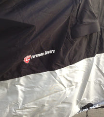 Heavy Duty Motorcycle Cover with Cable & Lock (XL) Black - Formosa Covers