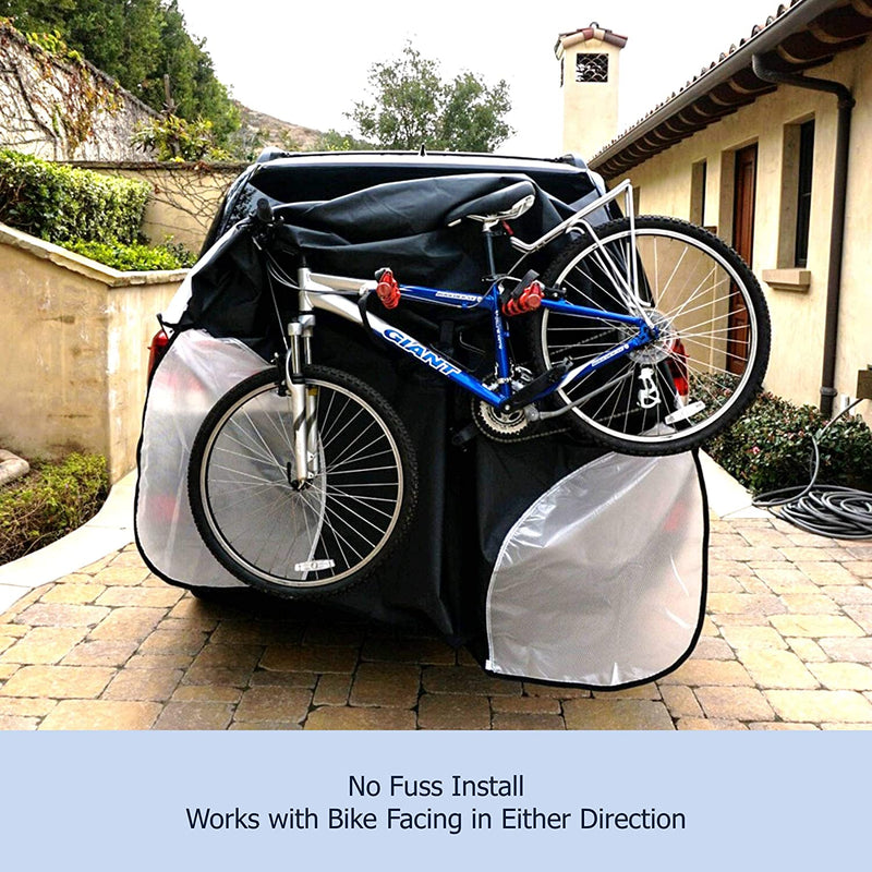 Single Bike Rack Cover For Transport (Fits 1 Bike) Extra Large Translucent Ends - Formosa Covers