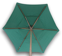 9ft Market Patio Umbrella 6 Rib Replacement Canopy Hunter Green - Formosa Covers