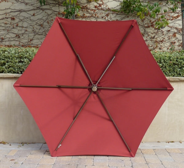 9ft Market Patio Umbrella 6 Rib Replacement Canopy Brick - Formosa Covers
