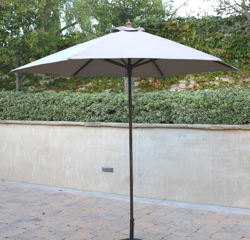 9ft Market Patio Umbrella 6 Rib Replacement Canopy Taupe - Formosa Covers