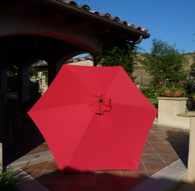 9ft Market Patio Umbrella 6 Rib Replacement Canopy Red - Formosa Covers