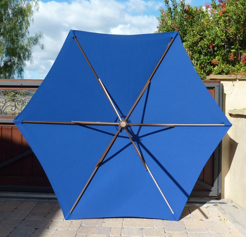 9ft Market Patio Umbrella 6 Rib Replacement Canopy Royal Blue - Formosa Covers