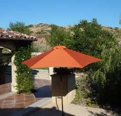 9ft Market Patio Umbrella 6 Rib Replacement Canopy Terracotta - Formosa Covers