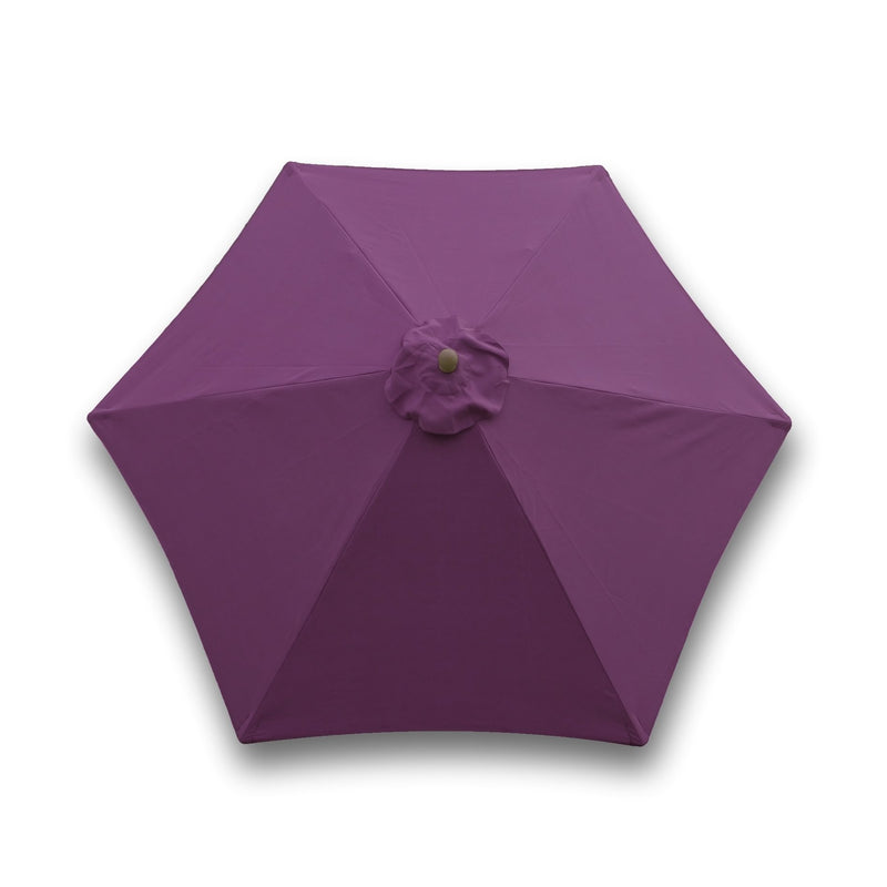 9ft Market Patio Umbrella 6 Rib Replacement Canopy Purple - Formosa Covers