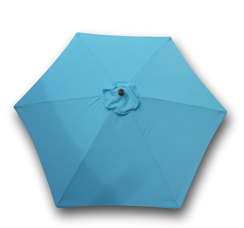 9ft Market Patio Umbrella 6 Rib Replacement Canopy Light Blue - Formosa Covers