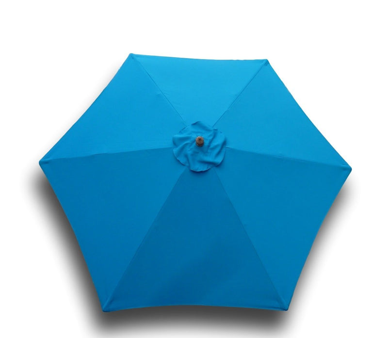 9ft Market Patio Umbrella 6 Rib Replacement Canopy Teal - Formosa Covers