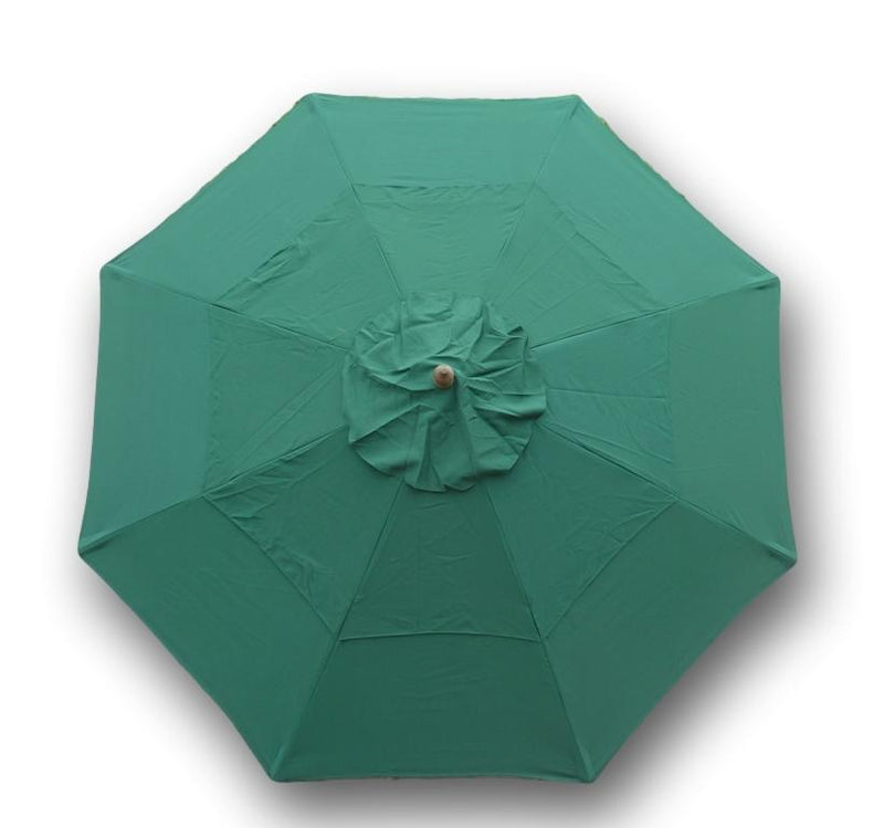 9ft Market Patio Umbrella Double-Vented 8 Rib Replacement Canopy Hunter Green - Formosa Covers