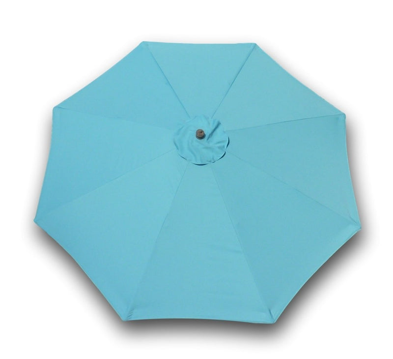 9ft Market Patio Umbrella 8 Rib Replacement Canopy Light Blue - Formosa Covers