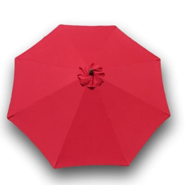 9ft Market Patio Umbrella 8 Rib Replacement Canopy Red - Formosa Covers